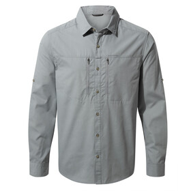 Craghoppers Kiwi Boulder Longsleeve Shirt Heren, cloud grey